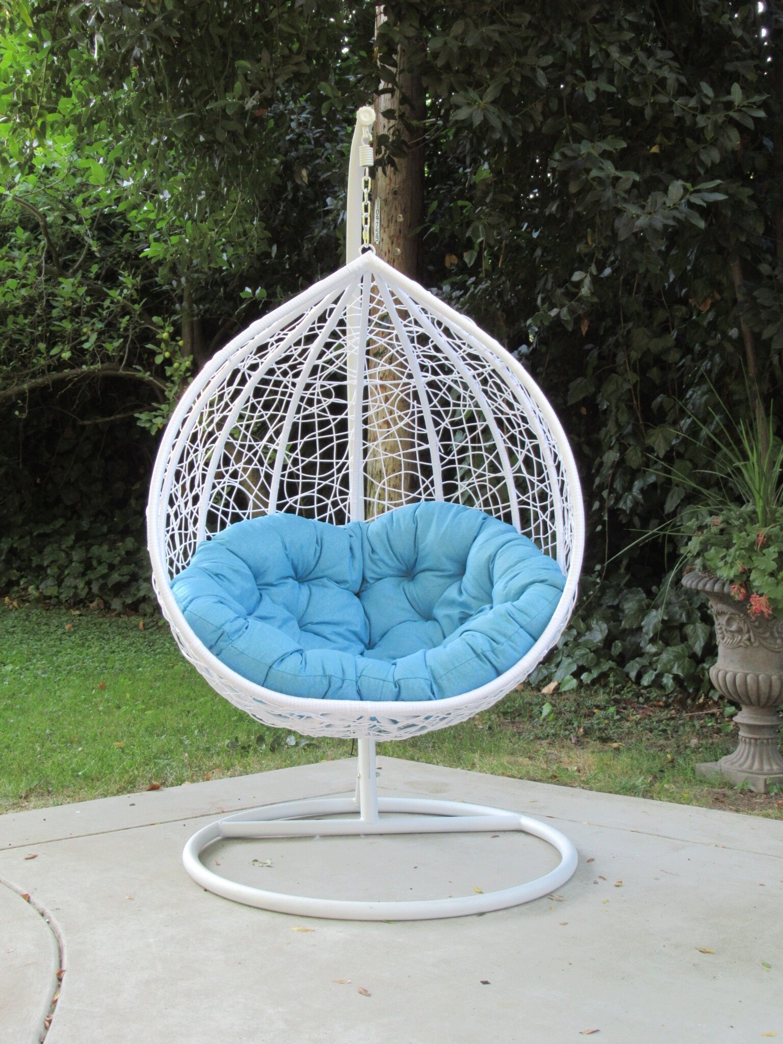 Brayden Studio Yorba Hanging Swing Chair With Stand Reviews