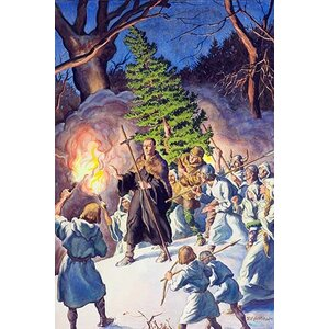 'Pagan Christmas' by Robert Lynn Lambdin Painting Print