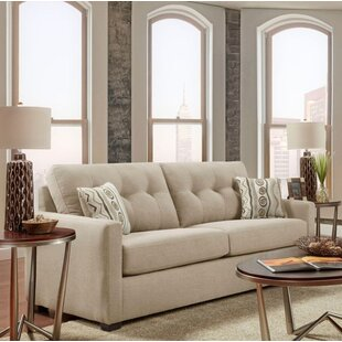 Ebern Designs Caster Tufted Sofa