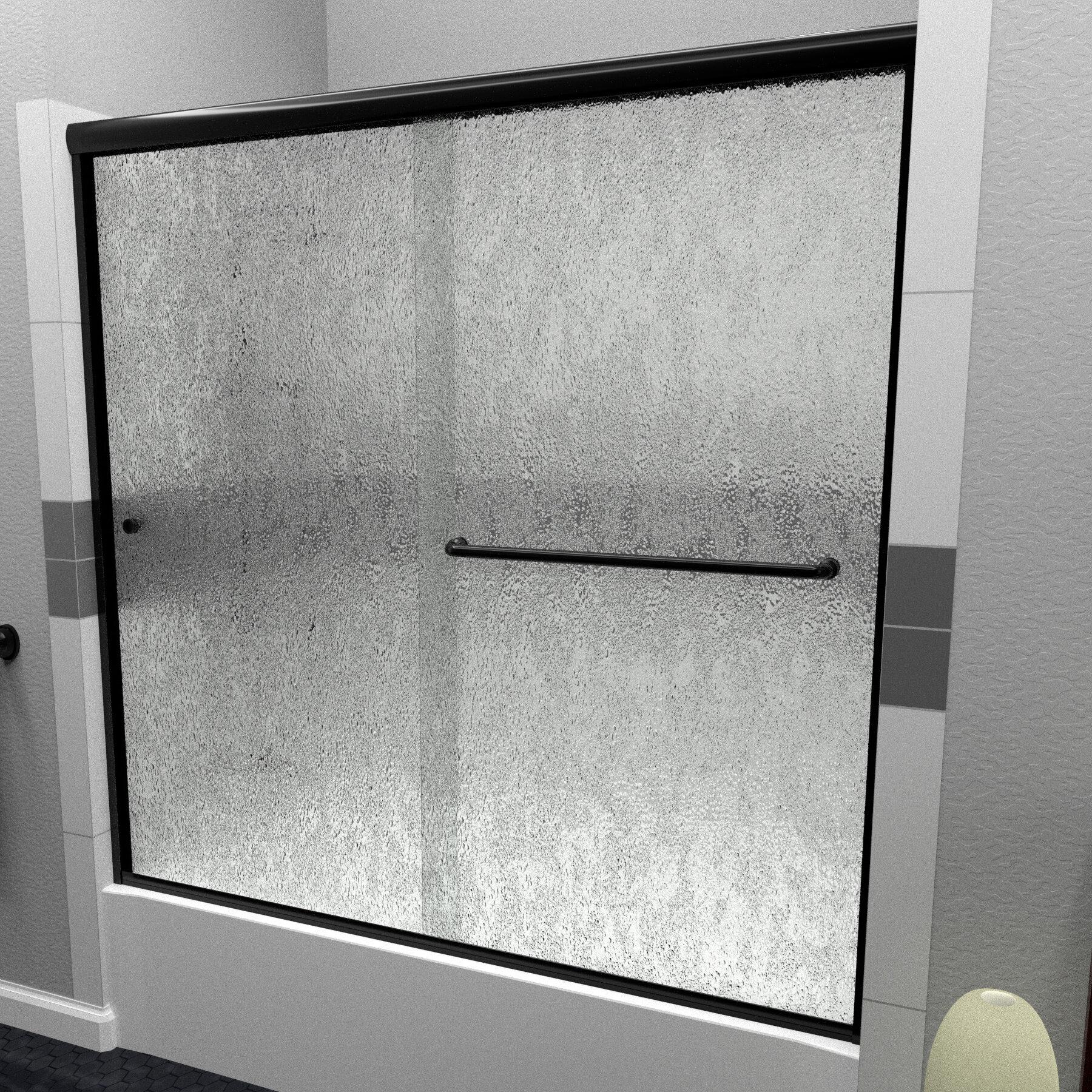 Arizona Shower Door Leter 56 W X 60 H Bypass Semi Frameless Tub Door Wayfair