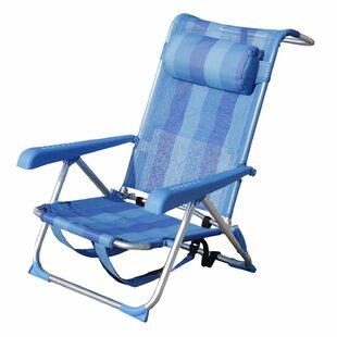 Ebern Designs Siri Outdoor Aluminum Backpack Folding Beach Chair