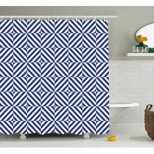 Sumiko Symmetric Line Decor Single Shower Curtain