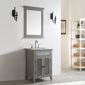 Grovetown 25″ Single Bathroom Vanity Set with Mirror