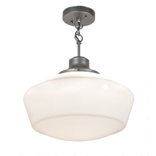 August Grove Moshier 1-Light Schoolhouse Pendant