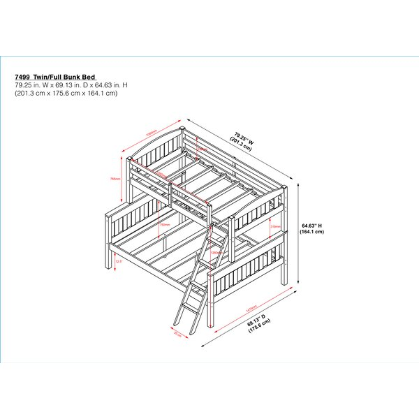 Viv Rae Suzanne Twin Over Full Standard Bunk Bed By Viv Rae Reviews Wayfair