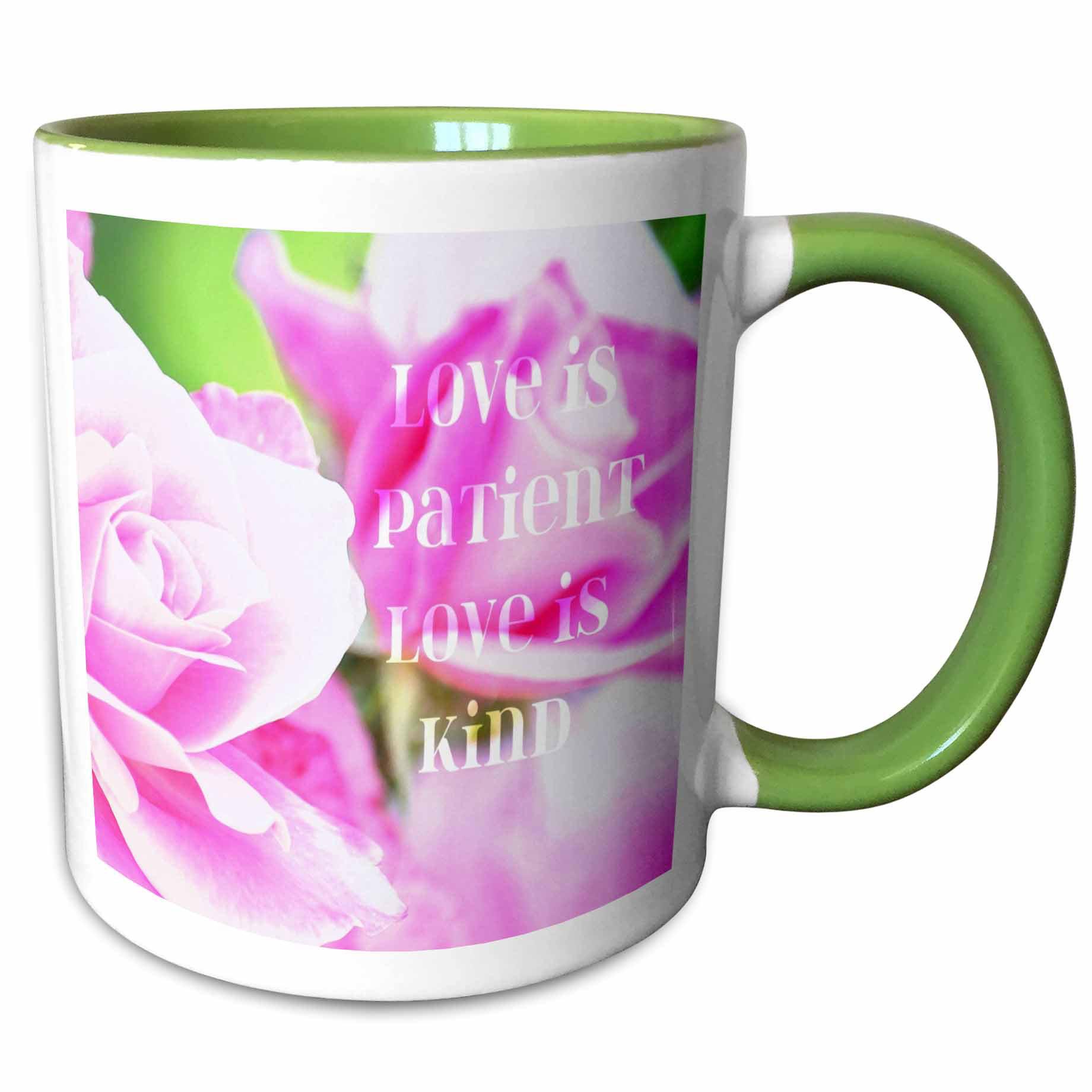 East Urban Home Leaves Inspirational Love Is Patient Love Is Kind Bible Verse Coffee Mug Wayfair