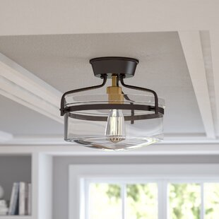Azure 1-Light Semi Flush Mount..