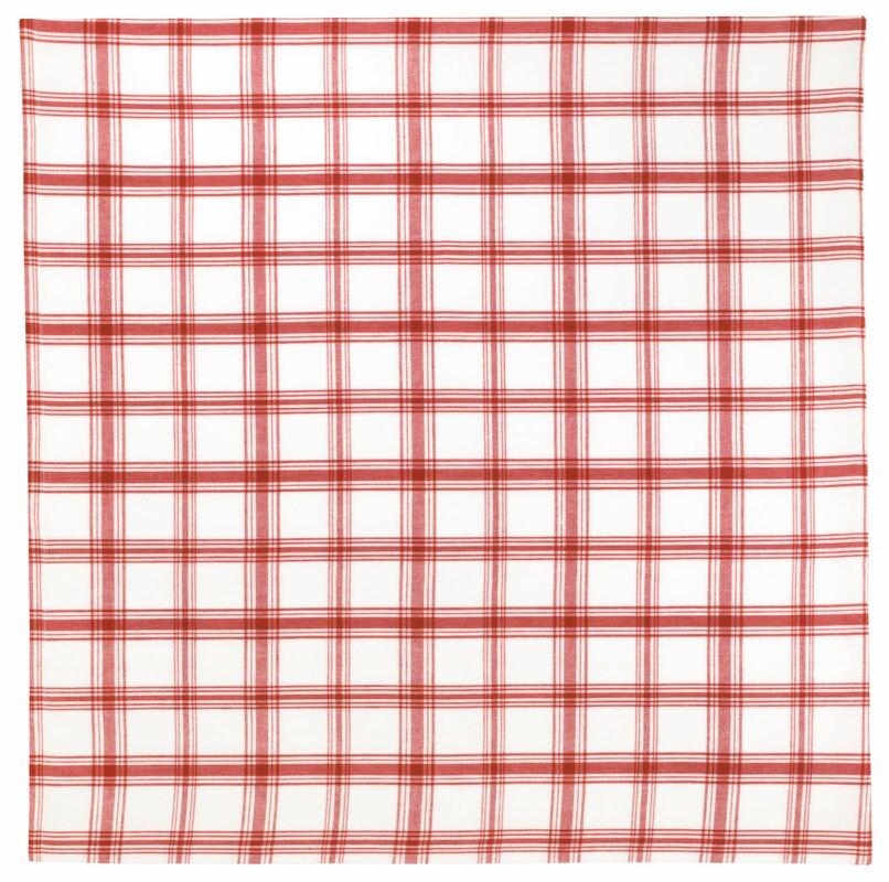 Kitchen 100% Cotton Plaid Tablecloth