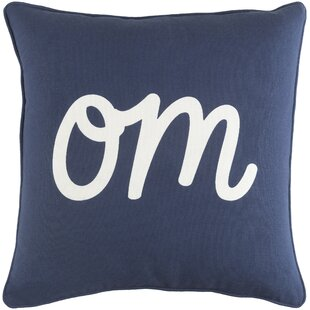 Yahya Om Cotton Throw Pillow
