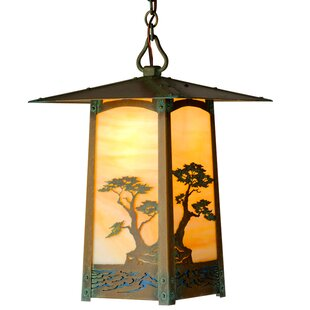 Check Prices Dever 1-Light Outdoor Hanging Lantern By World Menagerie