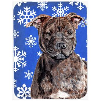 East Urban Home English Bulldog Candy Cane Holiday Christmas Glass Cutting Board Wayfair