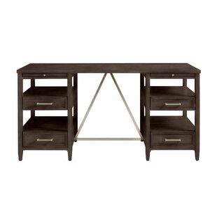 Consuelo Solid Wood Credenza Desk by Harriet Bee