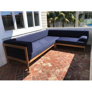 Ivan Teak Sunbrella Sectional Seating Group by Longshore Tides