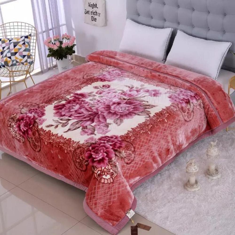 Heavy Korean Mink Blanket Queen /& King Size 14 Lbs Thick Warm Plush Soft Purple