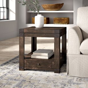 Best Price Eustace End Table With Storage By Greyleigh