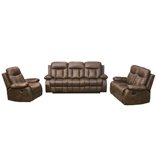 Forsett 3 Piece Reclining Living Room Set by Red Barrel Studio