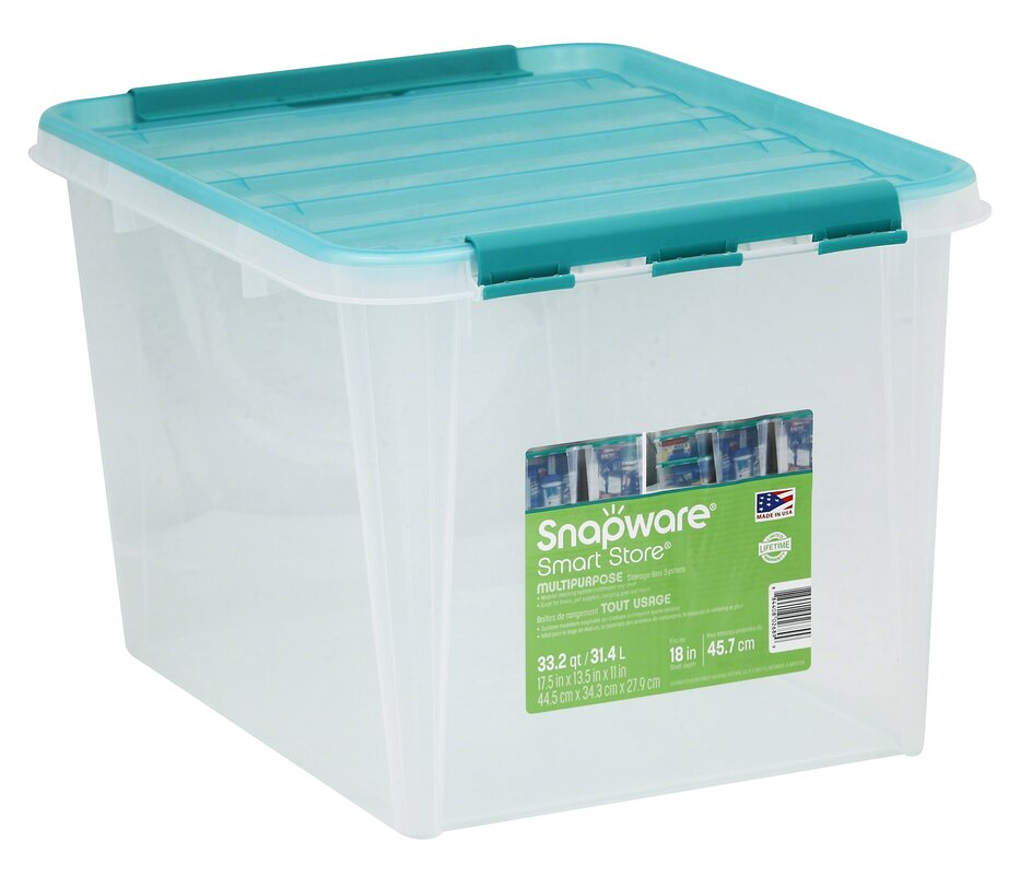 Snapware Smart Home Storage Container With Kelly Green Handles