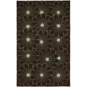 Soho Light Brown / Teal Contemporary Rug