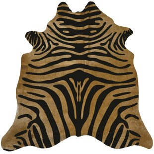 Find for Astonishing Exquisite Zebra Design Vibrant Hand-Woven Black/Caramel Area Rug By Rug Factory Plus
