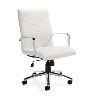 Offices To Go Luxhide Mid-Back Leather Desk Chair