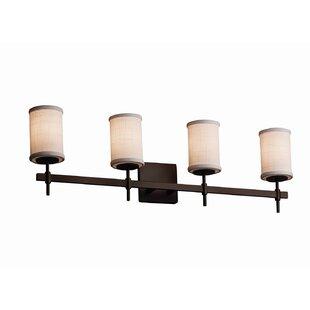 Red Hook Modern 4 Light Cylinder Shade w/ Flat Rim Vanity Light by Latitude Run