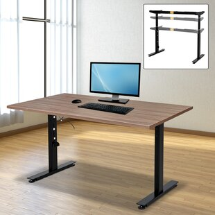 Symple Stuff Carissa Steel Ergonomic Electric Height Adjustable Standing Desk