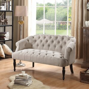 Garner Tufted Chesterfield Settee by Alcott Hill