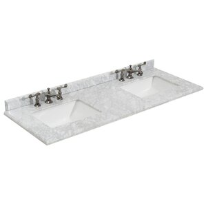 sink top for vanity. Grazia 61  Double Bathroom Vanity Top Tops You ll Love Wayfair