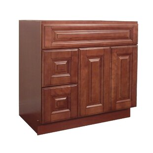 Drawers Left 36 Single Bathroom Vanity Base by NGY Stone & Cabinet