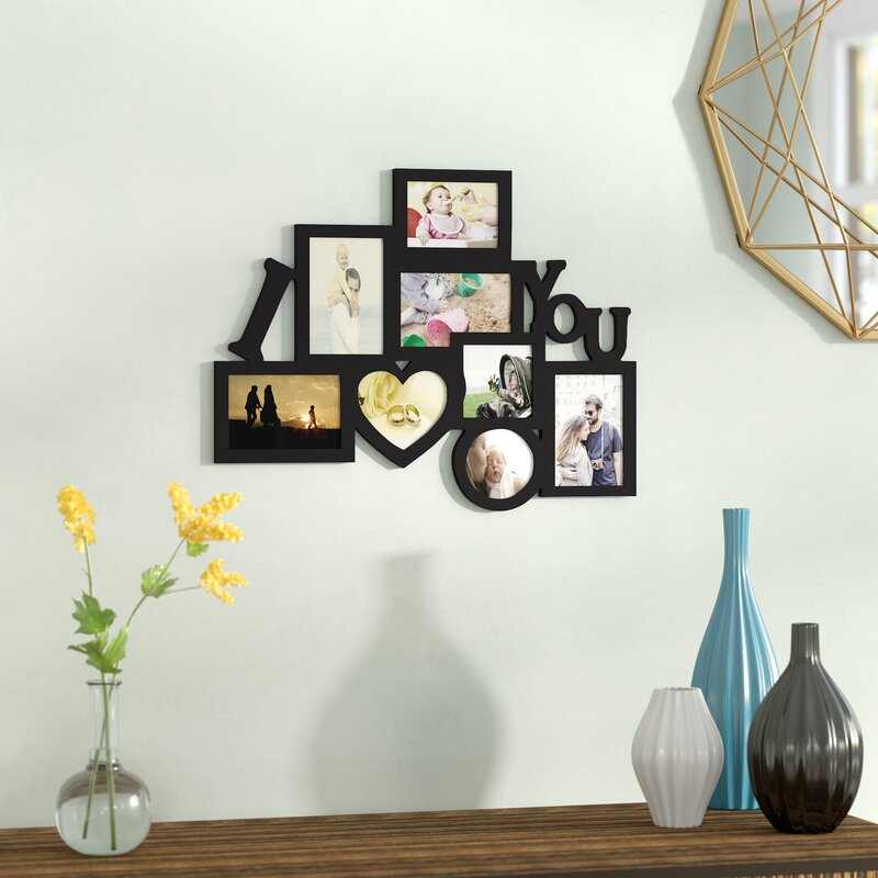 Zipcode Design 8 Opening Wooden Photo Collage Wall Hanging Picture