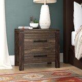 Kensett 2 Drawer Nightstand by Loon Peak®