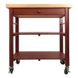 Javed Roll About Kitchen Cart with Wood Top by Winston Porter