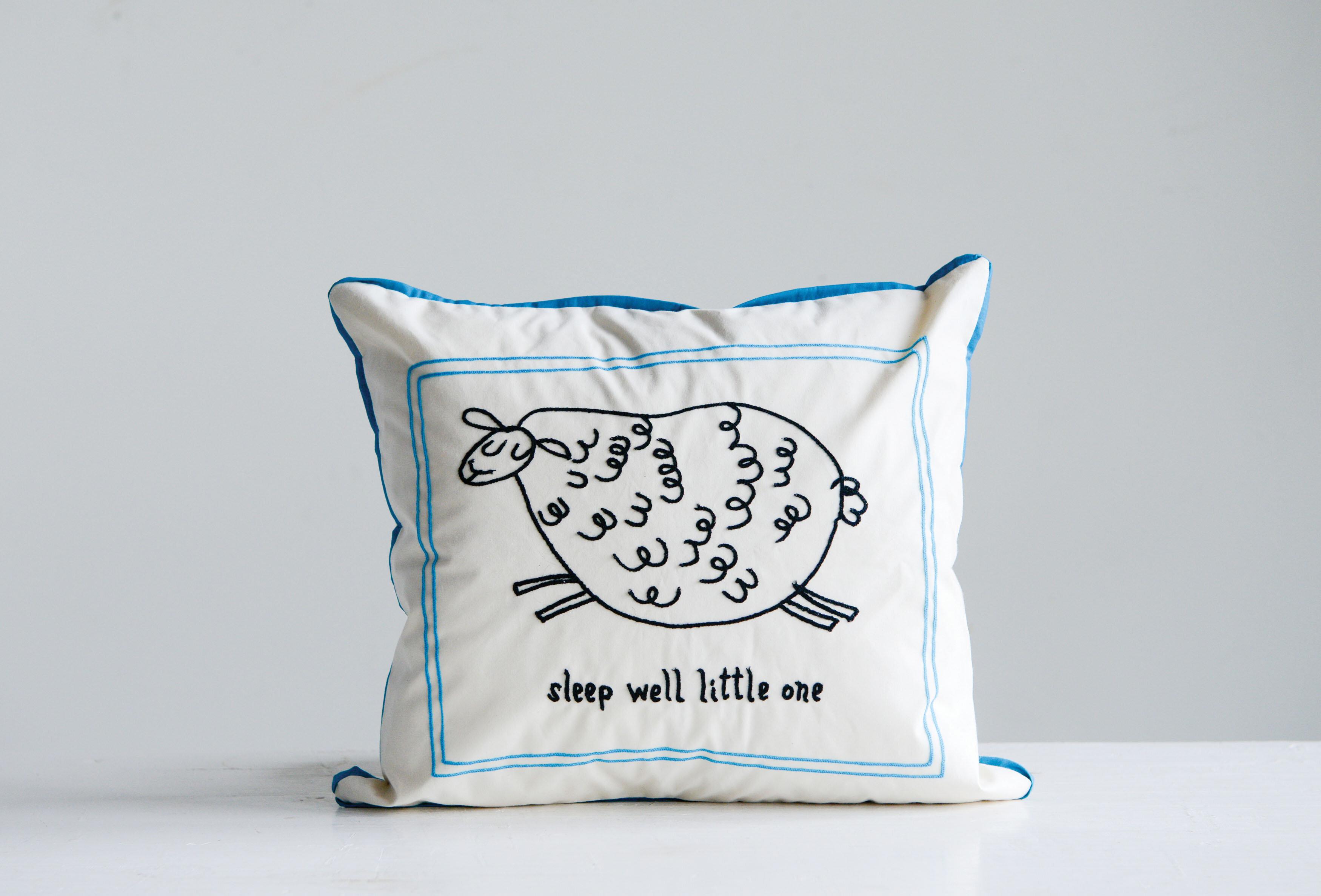 Harriet Bee Hylan Sleep Well Little One Cotton Lumbar Pillow Wayfair