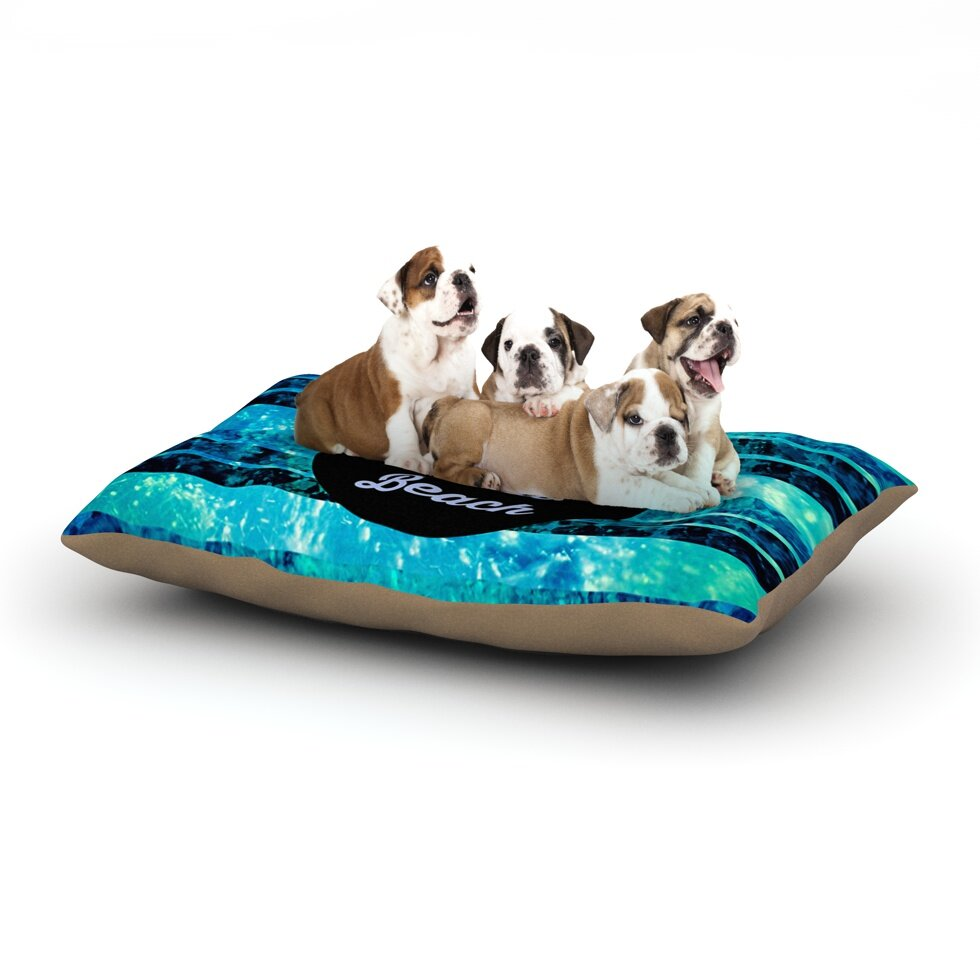 Ebi Emporium 'Life is Better at the Beach' Dog Pillow with Fleece Cozy Top
