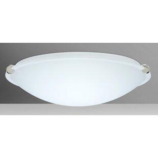 Trio 2-Light LED Outdoor Flush Mount by Besa Lighting