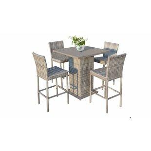 Remarkable Falmouth 5 Piece Bar Height Dining Set Uwap Interior Chair Design Uwaporg