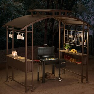 Sunjoy Mouton 8 Ft. W x 5 Ft. D Steel Grill Gazebo