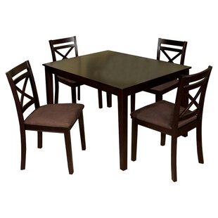 Easton 5 Piece Dining Set by Hokku Designs Discount