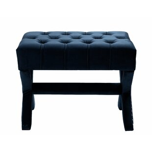 Compare prices Kenny Button Tufted Cocktail Ottoman By Inspired Home Co.