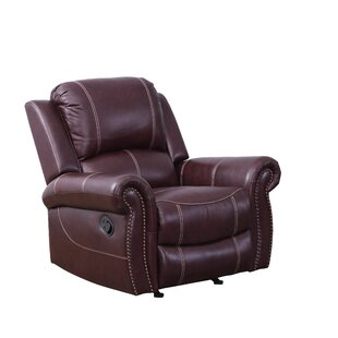 Lopp Leather Manual Recliner