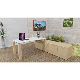 Liz L-Shape Executive Desk By Ebern Designs