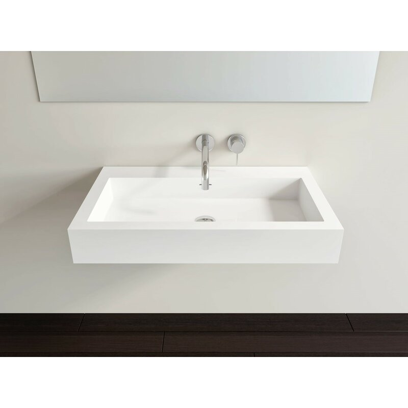 Wt 06l M Polymarble 47 Wall Mount Bathroom Sink With Overflow Buy Online In Albania At Albania Desertcart Com Productid 134874508