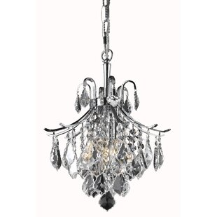Amelia 3-Light Crystal Pendant by Living District