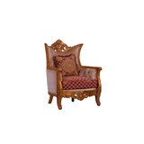 Modigliani Chair Red Gold Fabric by European Furniture