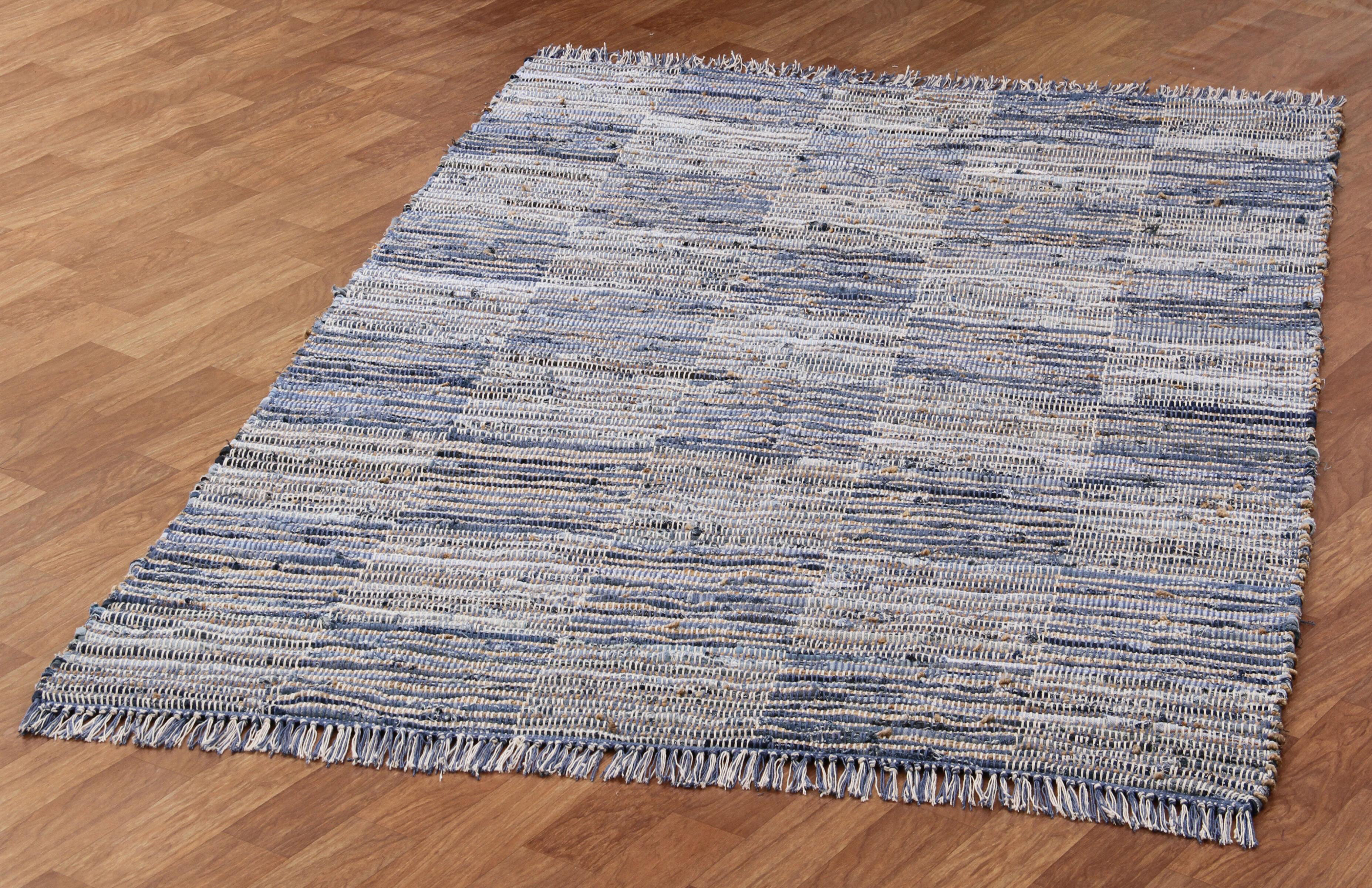 Laurel Foundry Modern Farmhouse Synthia Handwoven Cotton Blue Natural Hemp Rug Reviews Wayfair