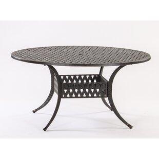 AIC Garden & Casual Basket Weave Round Cast Aluminum Bistro Table