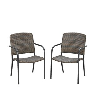 Cresson Stacking Patio Dining Chair (Set of 2)