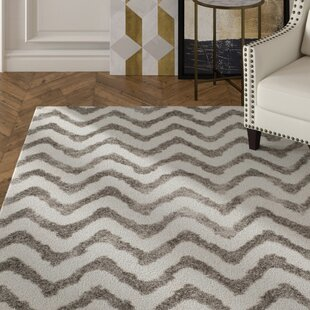Reviews Hempstead Hand-Tufted Gray/White Area Rug By Mercer41