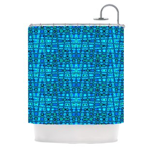 Variblue Single Shower Curtain