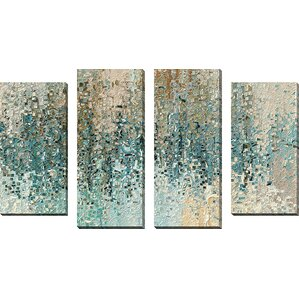 Teal And Brown Wall Art abstract paintings & abstract wall art you'll love | wayfair